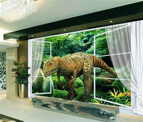 Tapisserie Dinosaure by Papier Peint Tapisserie Effet 3d Sp 233 Cial Dinosaure L
