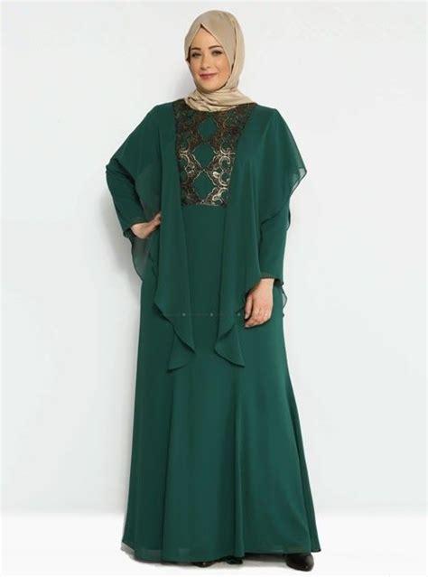 busana muslim modern  wanita gemuk desain baju