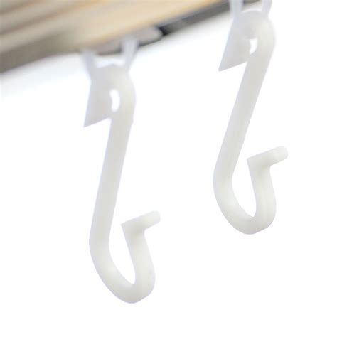 ecospa replacement shower curtain hooks pack fits glider