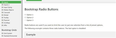 bootstrap radio button