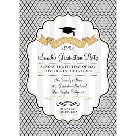 card template graduation invitation template card