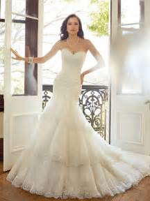 www wedding dresses fit and flare wedding dress with dropped waist
