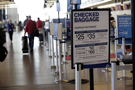 airline baggage fees more disclosure possible sfgate - American Checked Bag Fee