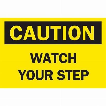 Osha Caution Step Signs Safety Printable Sign
