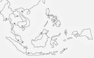Sketsa Peta Asia Tenggara Hitam Putih
