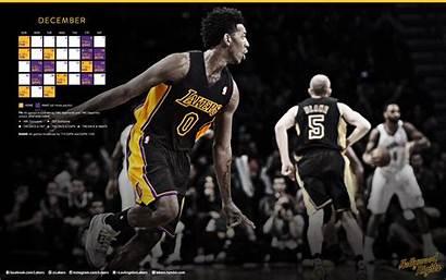 Lakers Monitor Dual Wallpapers Desktop Los Screensaver