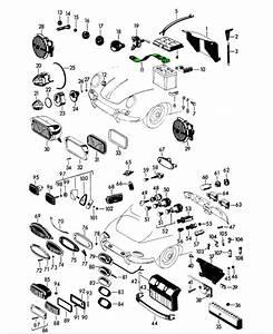 Porsche 356 Battery Ground Strap 64461230102  64461230101