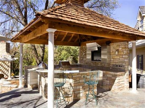 outdoor kitchen covered patio rustic outdoor kitchens