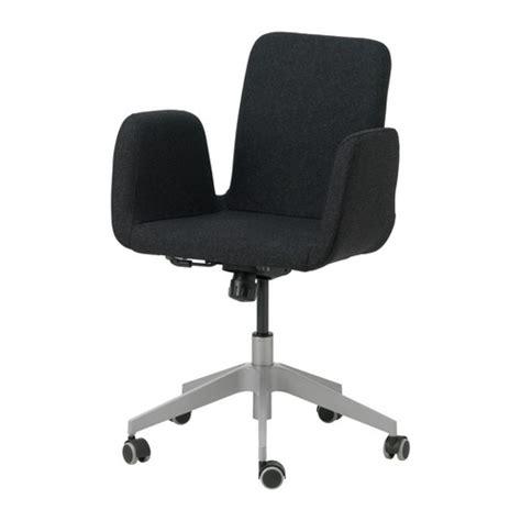 patrik swivel chair ullevi dark gray ikea