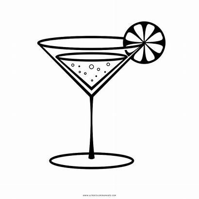 Margarita Cocktail Clipart Drawing Coloring Glass Disegni