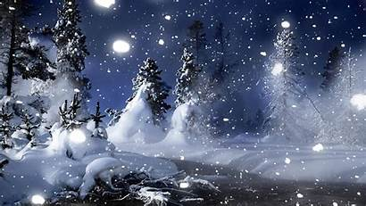 Winter Wallpapers Desktop Season Scenes Night Snow