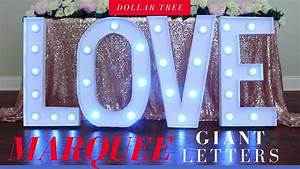 dollar tree diy giant lighted marquee love letters my With giant marquee letters
