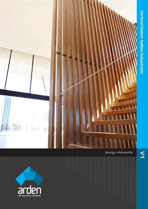 Design Element: V1   Vertical timber batten balustrade by