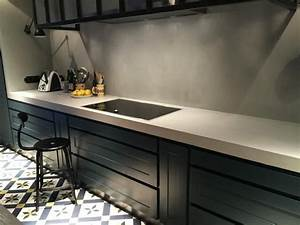 Crédence Béton Ciré : 25 best ideas about plan de travail on pinterest deco cuisine cuisine design and credence ~ Mglfilm.com Idées de Décoration