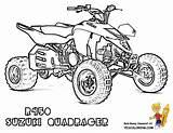 Atv Coloring Quad Coloriage Dessin Colouring Yamaha Wheeler Suzuki Ausmalbilder Wheelers Imprimer Printables Malvorlagen Raptor Yescoloring 4x4 R450 Drawing Sketches sketch template