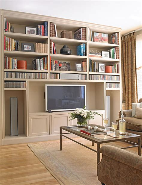 ideas  organize  home library   living room