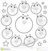 Coloring Solar System Planets Drawing Colouring Sheets Dwarf Line Planet Space Pluto Sheet Getdrawings sketch template