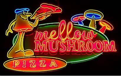 Neon Sign Signs Pizza Mushroom Mellow Beer