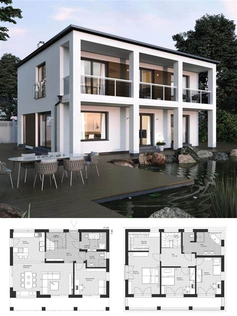 Stadtvilla Moderne Architektur Grundriss by Bauhaus Stadtvilla Modern Grundriss Mit Flachdach