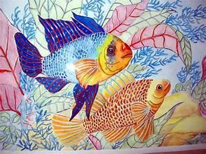 Tropical fish meet watercolor painting | Rebecca Milne ...