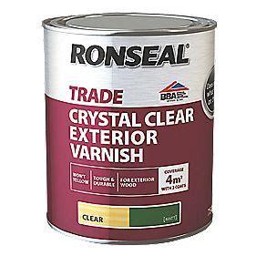 ronseal exterior varnish matt clear ml exterior