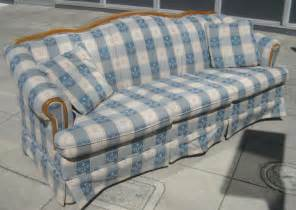 plaid sofa uhuru furniture collectibles sold plaid sofa 60