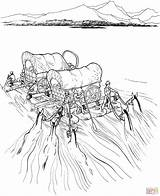 River Covered Raft Coloring Pages Wagons Settlers Wagon Pioneer Navigate Printable Supercoloring Expansion Frontier Trail Westward Dot Drawing Oregon Activity sketch template
