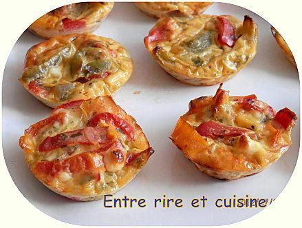 mini quiches sans p 226 te feta et poivrons au fromage blanc paperblog