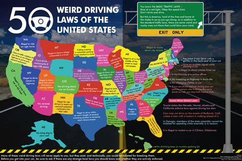 laws in the us 50 weird driving laws of the united states visual ly