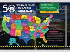 50 Weird Driving Laws of the United States Visually