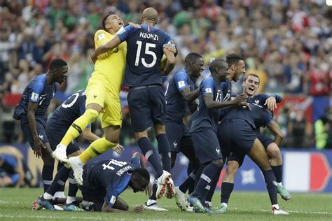 Fifa World Cup Happiness For France Team Wins