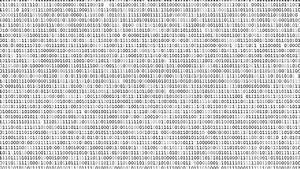 Twinkle Binary Code Screen Static Listing Table On Black ...