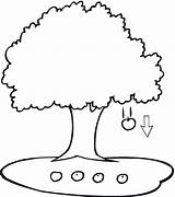 Coloring Apple Tree Printable sketch template