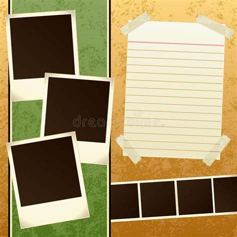 Scrapbook Template Stock Vector Illustration Of Photo