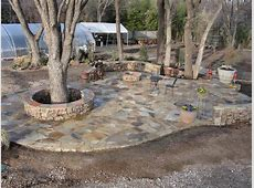 Stone Patio at Garden Center from Grow It Land Designs