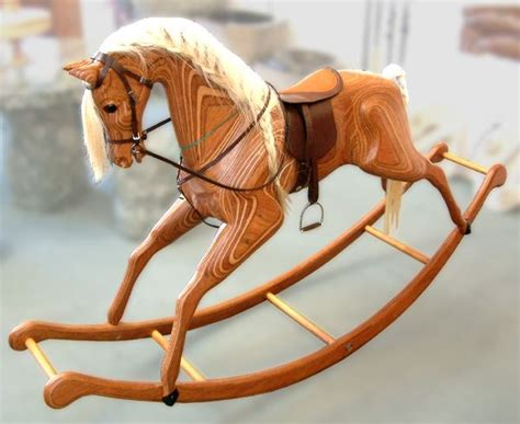 large wooden rocking horse plans woodworking projects