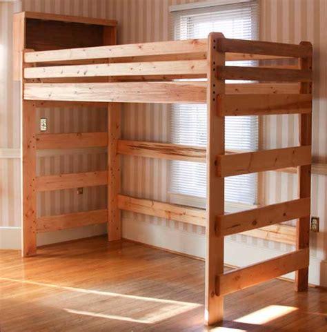 childs loft bed woodworking plan plans diy