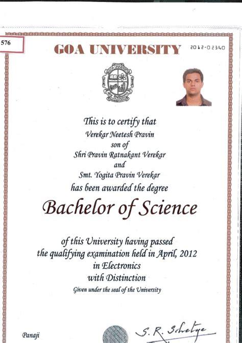 bachelors degree certificate