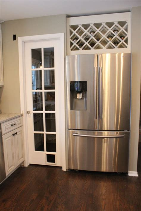 good   utilize  space   fridge wine rack   home pinterest home