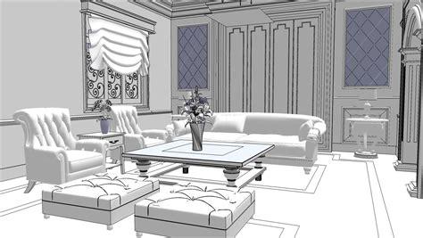 Sketchup Living Room Model by Sketchup Texture Free Sketchup 3d Model Living Room 13