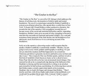 Catcher In The Rye Literary Analysis Essay best dissertation ...