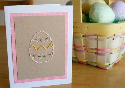 easter egg stitched greeting card   takes