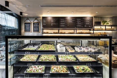 cuisine contemporaine haut de gamme idées pour décorer un bar à soupes et à salades