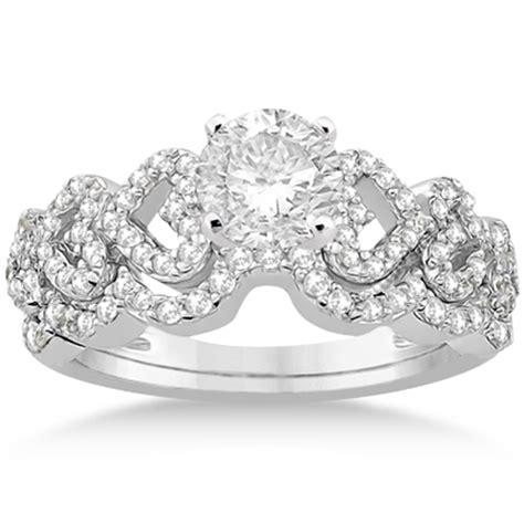heart shape diamond engagement wedding ring 18k white gold 0 50ct u568