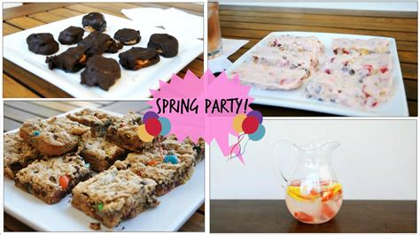 treats diy diy spring snacks party treats quick easy youtube