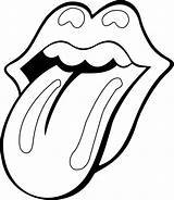 Rolling Coloring Mouth Stones Pages Tongue Stone Sheet Tattoo Contour Template Lips Outline Sheets Drawings Printable Patterns Deviantart Colouring Adult sketch template