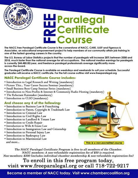 nacc  job training  paralegals   york