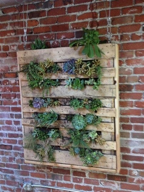 How To Make A Vertical Pallet Garden by Diy Vertical Garden With Pallet Pallet Furniture Plans