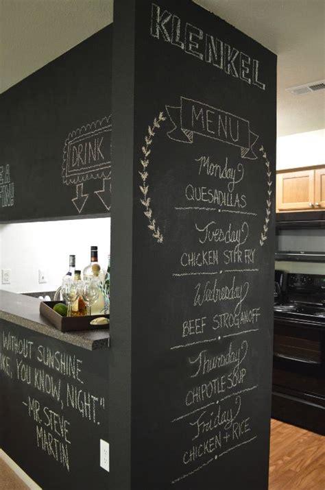 kitchen chalkboard menu    dinner party
