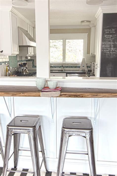 kitchen half wall ideas 13 affordable half wall in kitchen for breakfast bar idea